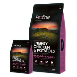PROFINE Adult Energy  chicken & potatoes 15kg