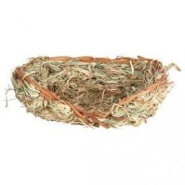 Hnízdo z trávy pro králíky
