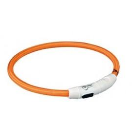 Svítící kroužek USB na krk oranžový