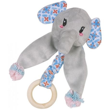 Nobby hračka pro kočky sloník s dřevěným kroužkem 16 cm
