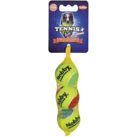 Nobby Tennis Line hračka tenisový míček barevný XS 4cm 3ks