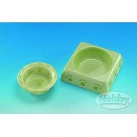 Keramická miska hranatá zelená 23 cm - doprodej