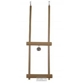 Dřevěná dvojhoupačka s rolničkou 51cm - doprodej
