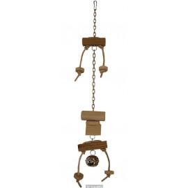 Závěsná hračka s kombinací dřeva 32cm