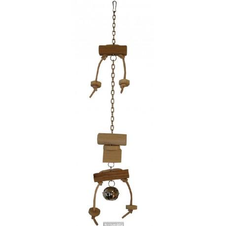 Závěsná hračka s kombinací dřeva 32cm - doprodej