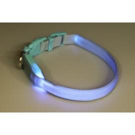 Obojek svítící syntetický popruh modrý- doprodej