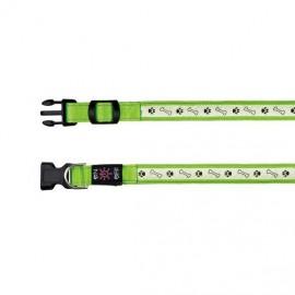 Svítící obojek USB zelený