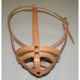 Náhubek kožený Francouzský buldoček 29cm/6-7 cm - doprodej