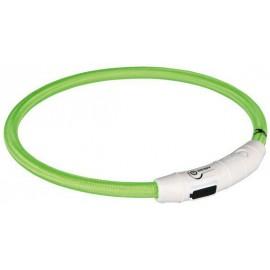 Svítící kroužek USB na krk zelená - doprodej